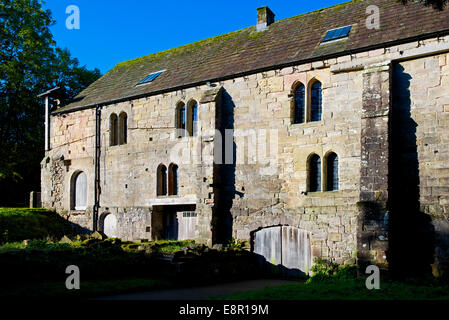 The mill at Fountains Abbey, near Ripon, North Yorkshire, England UK - Stock Photo