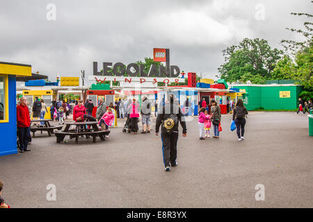 Entrance to Legoland, Windsor, Berkshire, United Kingdom - Stock Photo