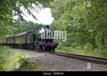 Steam Train on the Severn Valley Railway at Trimpley, Worcestershire, England, UK - Stock Photo