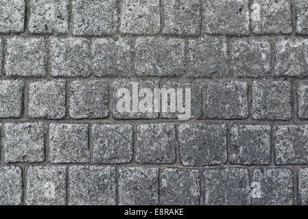 Cobble stone pavement texture as urban background - Stock Photo
