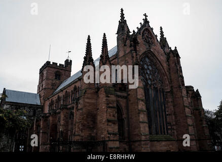 The Cathedral Church of the Holy and Undivided Trinity, or Carlisle Cathedral, the seat of the Anglican Bishop of - Stock Photo