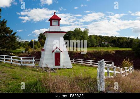 Anderson Hollow Lighthouse at Shipyard Park at Harvey Bank - Mary's Point Road, Harvey, New Brunswick, Canada - Stock Photo