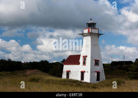 New London Range Rear Lighthouse, Prince Edward Island, Canada - Stock Photo