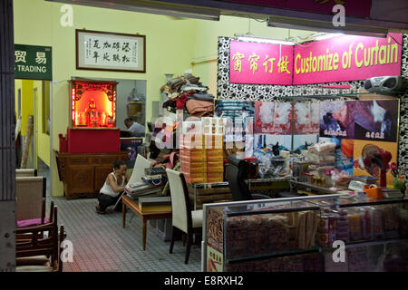 Perfect ... Furniture And Upholstery Shop In Chinatown, Singapore   Stock Photo