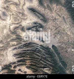 Monterrey, Mexico  In northeastern Mexico's Nuevo Leon state, the Sierra Madre Oriental (Eastern Sierra Madres) - Stock Photo