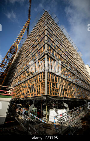 May 11, 2014 - Brussels, Bxl, Belgium - ''Europa'' building, designed by Philippe Samyn & Partners, is the new meeting - Stock Photo
