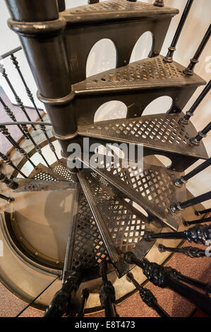 Classic Wrought Iron Spiral Staircase   Stock Photo
