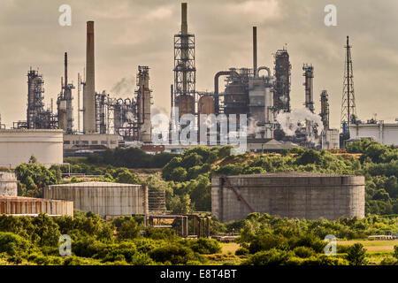Fawley Oil Refinery Southampton UK - Stock Photo