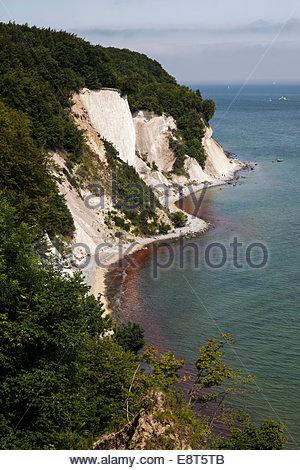 Chalk cliffs and chalk coast, Rügen island, Baltic Sea, Germany - Stock Photo