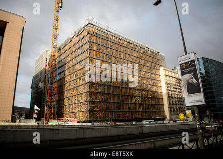 Europa building, designed by Philippe Samyn & Partners, is the new meeting venue of the European Council, and forms - Stock Photo