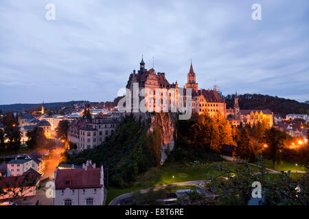Schloss Sigmaringen Castle, a Hohenzollern castle, royal residential palace and administrative seat of the Princes - Stock Photo