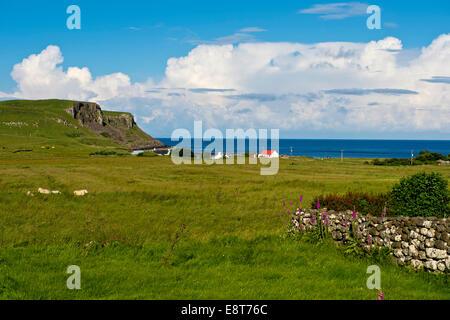 Coastline near Bornesketaig, Isle of Skye, Inner Hebrides, Scotland, United Kingdom - Stock Photo