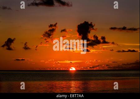 Sunset, Sulawesi, Indonesia - Stock Photo