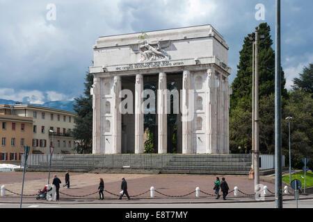 Fascist Bolzano Victory Monument, Piazza della Vittoria, 1928, Gries-Quirein, Bolzano, Trentino-Alto Adige, Italy - Stock Photo