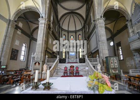 Italia Friuli V.G. Cividale  Duomo di Santa Maria Assunta del XV° sec. Il presbiterio| Italy Friuli Venezia Giulia Cividale Cath Stock Photo
