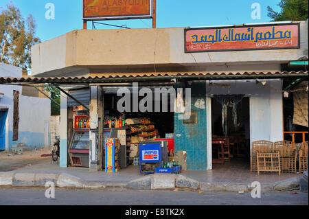 Small Egyptian general corner grocery store - Stock Photo