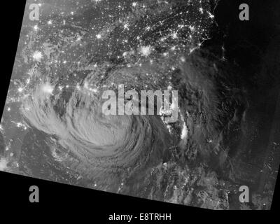 NASA image acquired August 28, 2012 Early on August 28, 2012, the Visible Infrared Imaging Radiometer Suite (VIIRS) - Stock Photo
