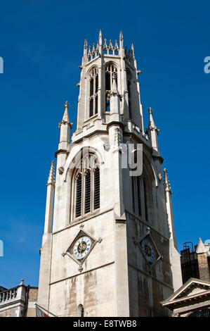 St. Dunstan-in-the-West Church, Fleet Street, London, UK - Stock Photo