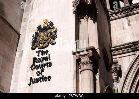 The Royal Courts of Justice, The Strand, London, UK - Stock Photo