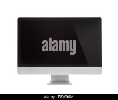 computer screen display isolated on white background - Stock Photo
