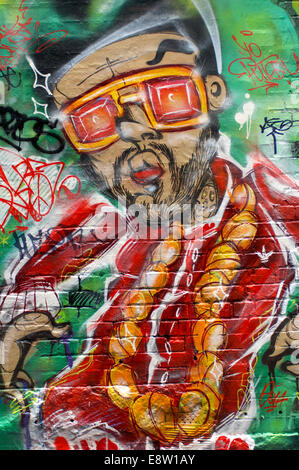 Hosier Lane, Melbourne in Australia is where street artists are allowed to decorate the walls.
