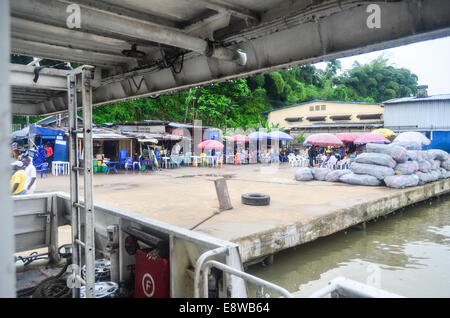 Port of Calabar in the delta of the Cross River, Nigeria - Stock Photo