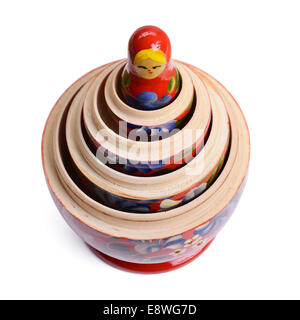 The inner layers of a set of Russian dolls - Stock Photo