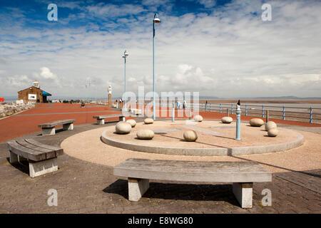 UK, England, Lancashire, Morecambe, Stone Jetty - Stock Photo