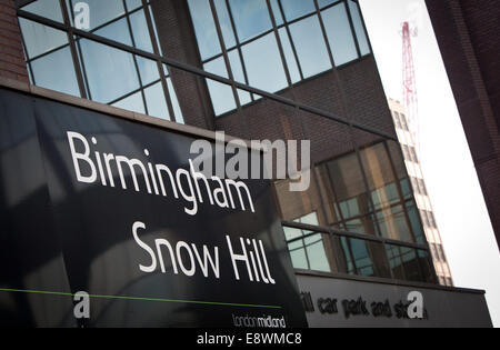 Snow Hill Train Station in Birmingham, West Midlands. - Stock Photo