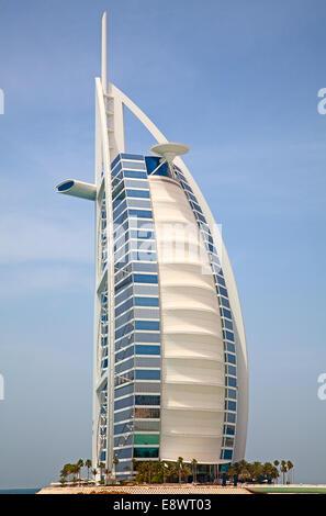 The sail shaped burj al arab hotel lit by colorful lights for The sail dubai