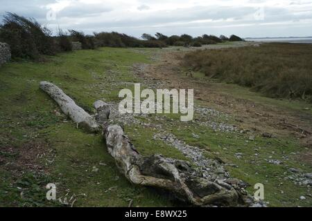 Sunderland Point on the mouth of the River Lune and Morecambe Bay, - Stock Photo