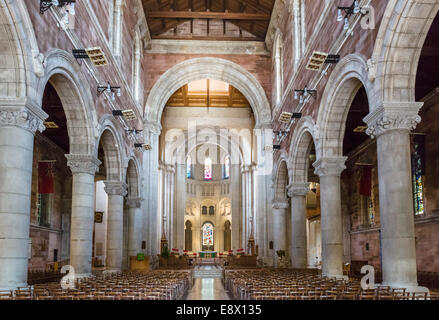 Interior of St Anne's Cathedral, Cathedral Quarter, Belfast, Northern Ireland, UK - Stock Photo