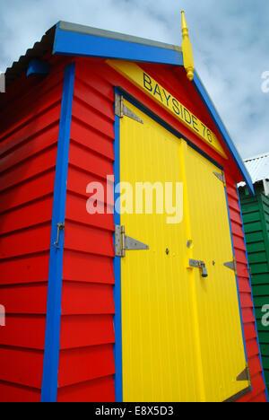 Colourful beach huts, Brighton, Melbourne, Victoria, Australia. - Stock Photo
