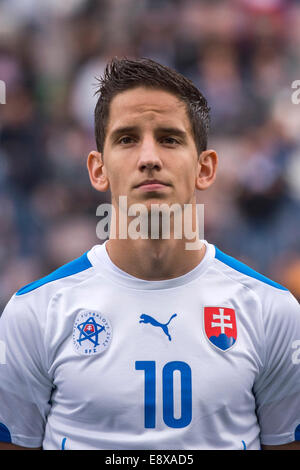 Reggio Emilia, Italy. 14th Oct, 2014. Paur Jakub (SVK) Football/Soccer : UEFA European Under-21 Championship 2015 - Stock Photo