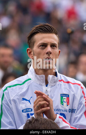 Reggio Emilia, Italy. 14th Oct, 2014. Federico Bernardeschi (ITA) Football/Soccer : UEFA European Under-21 Championship - Stock Photo