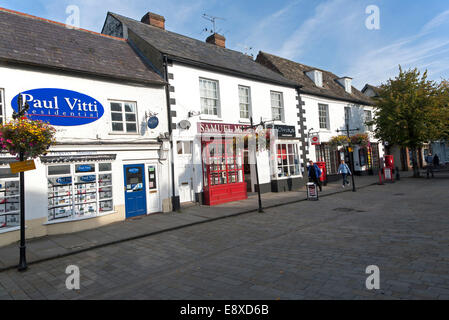 Shops in historic buildings in Royal Wootton Bassett, Wiltshire, England, UK - Stock Photo