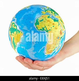 globe, in a center africa - Stock Photo