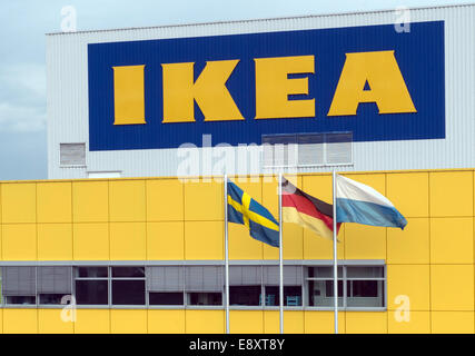 munich germany 16th oct 2014 the ikea store in eching. Black Bedroom Furniture Sets. Home Design Ideas