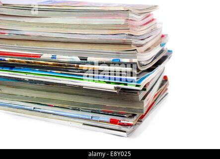 Old magazines - Stock Photo