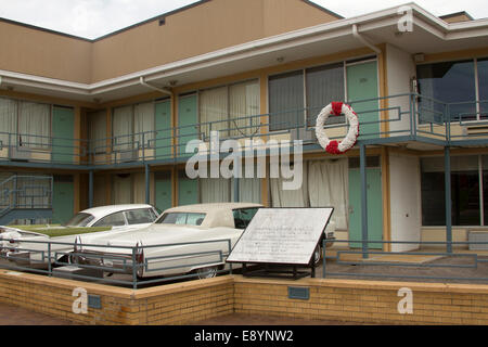 National Civil Rights Museum located in the old Lorraine Motel, site of the Martin Luther King, Jr assassination, in Memphis TN