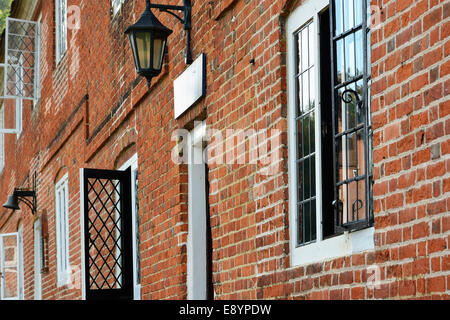 Cottages at Buckler's Hard in Beaulieu, Hampshire, where ships were built in the 18th century. - Stock Photo