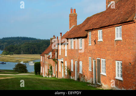 Buckler's Hard in Beaulieu, Hampshire, where ships were built in the 18th century. - Stock Photo