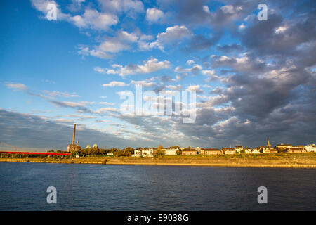 Europe's largest inland port, Duisburg Ruhrort, - Stock Photo