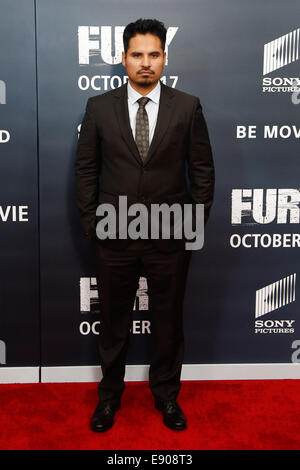 Washington, DC, USA. 15th Oct, 2014. Actor Michael Pena attends the world premiere of 'The Fury' at the Newseum - Stock Photo