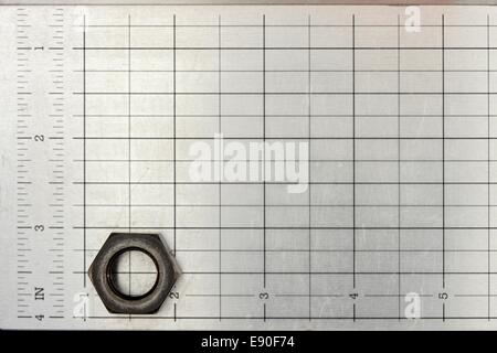 A close up shot of a metal grid - Stock Photo