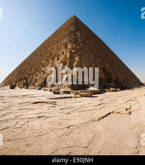 Pyramid Of Cheops Base Foundation - Stock Photo