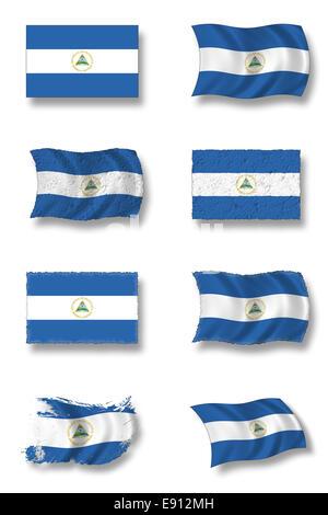 Flag of Nicaragua - Stock Photo
