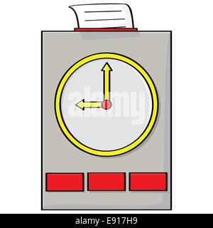 Punch clock - Stock Photo