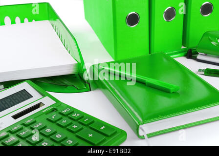Green business still life - Stock Photo