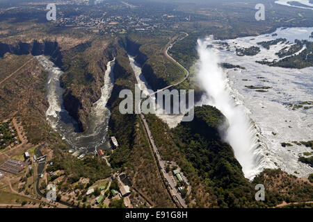 Airs picture of the Victoria Falls - Stock Photo